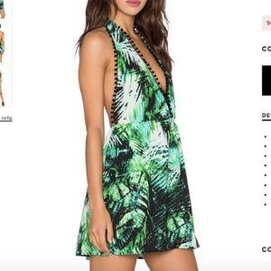 REVOLVE Mini Dress with Pom Poms